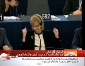 Imagen de una TV marroquí