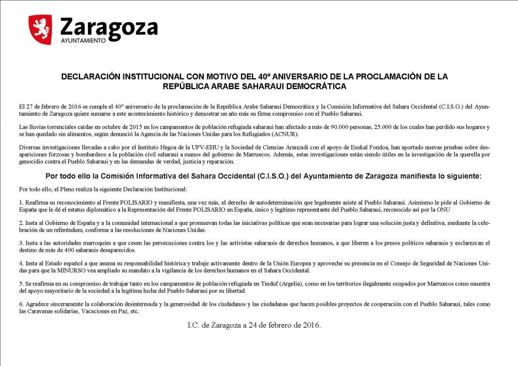 Declaración Zaragoza